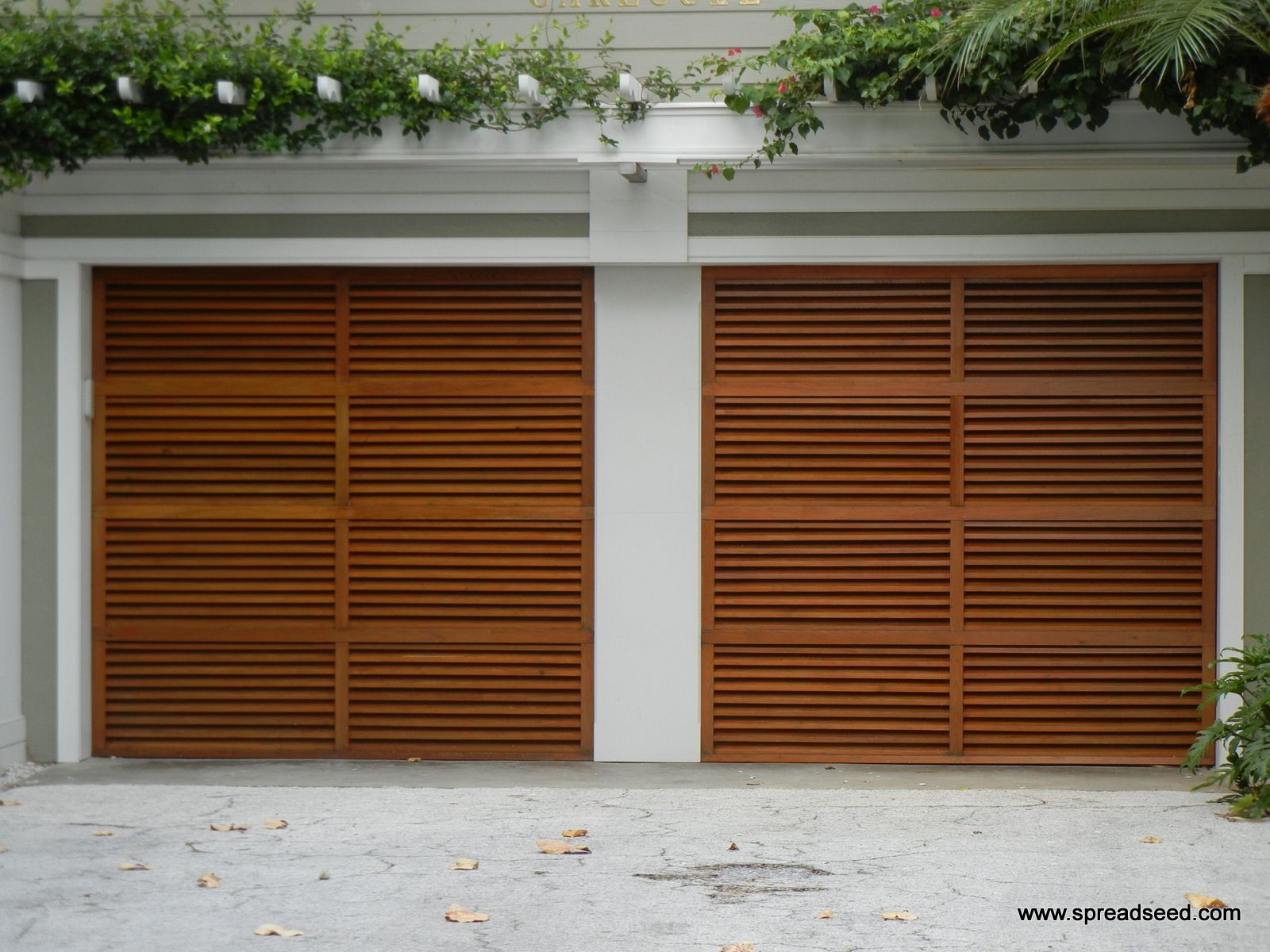 Teak Garage Door For Miami Beach Residence
