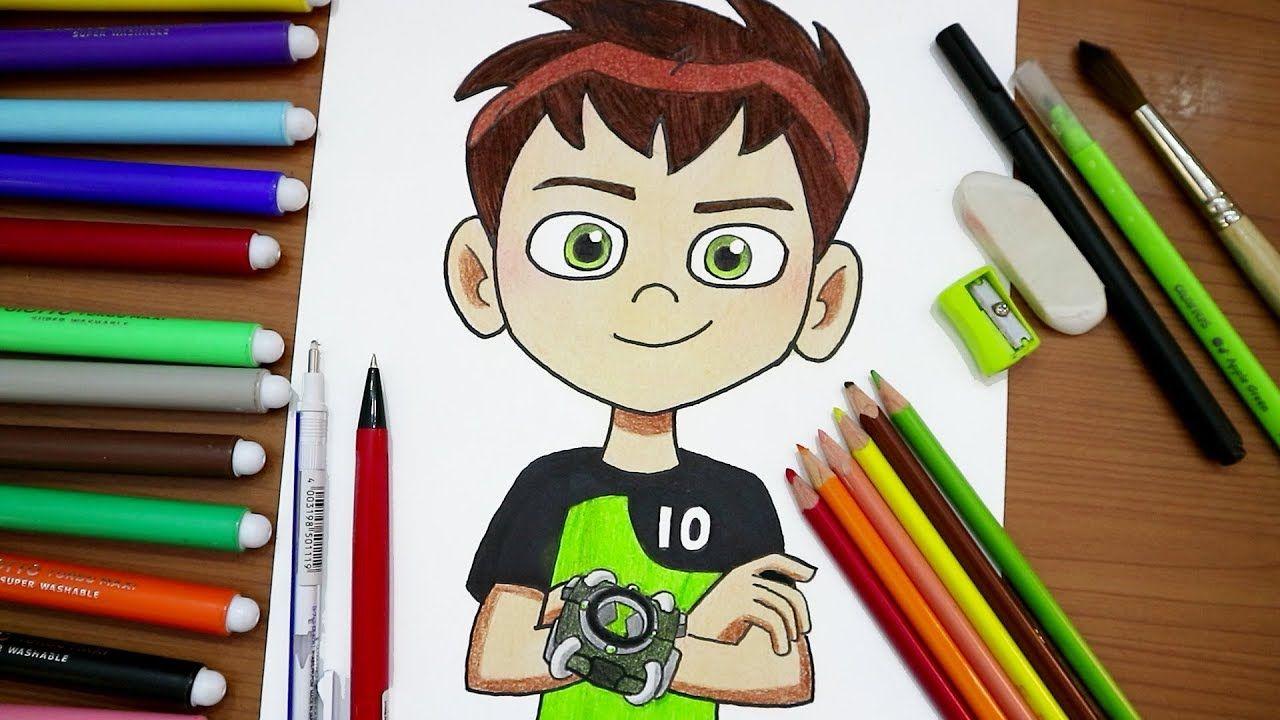 رسم بن تن How To Draw Ben 10 تعلم واستمتع Drawings Ben 10 Draw
