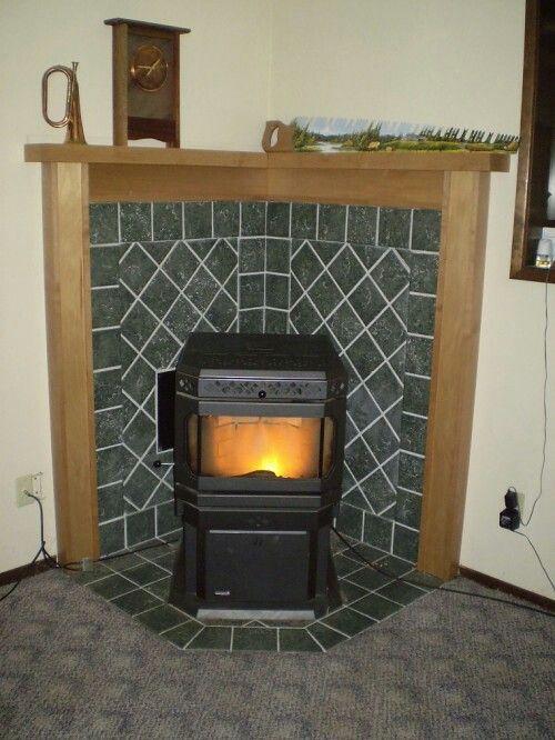 Wood Stove Surround Corner Living Rooms