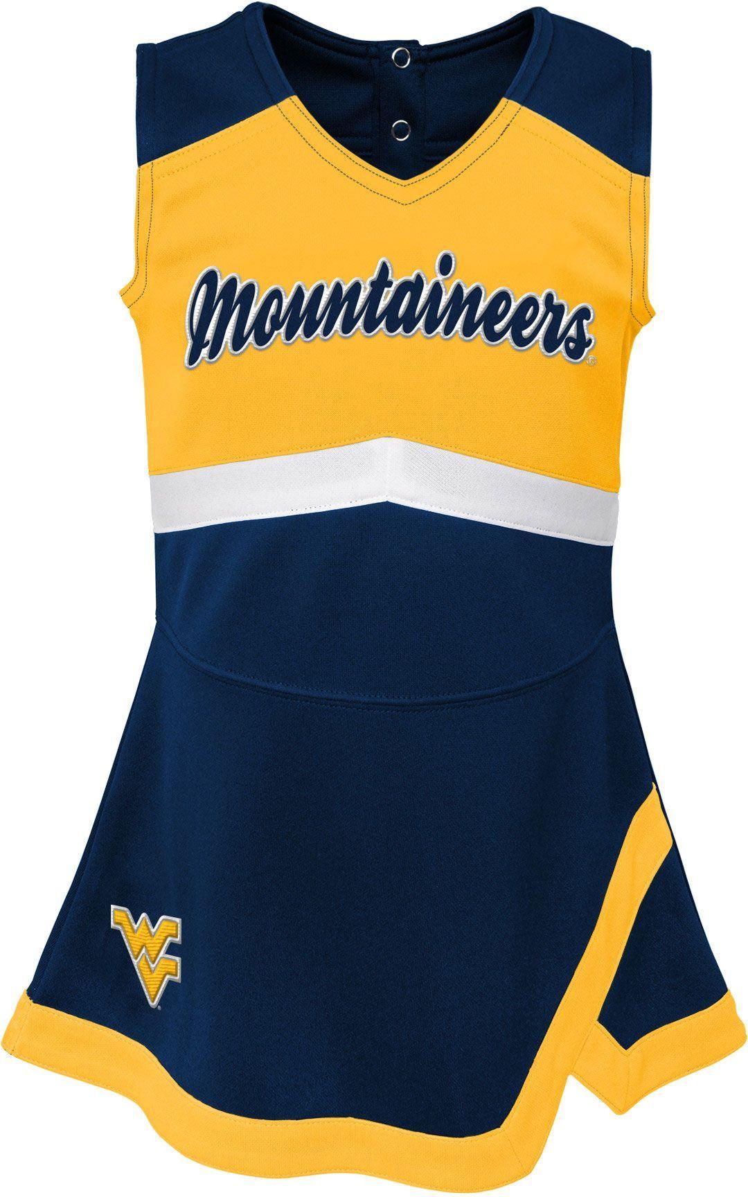 Gen2 Toddler Girls West Virginia Mountaineers Blue Cheer Captain 2 Piece Jumper Dress Girl S Size 4t In 2020 Blue Cheer Cheer Captain Jumper Dress