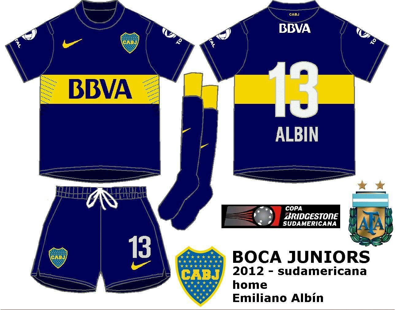 reputable site 8062d 1e5d2 Boca Juniors of Argentina home kit for 2012.   2010s ...