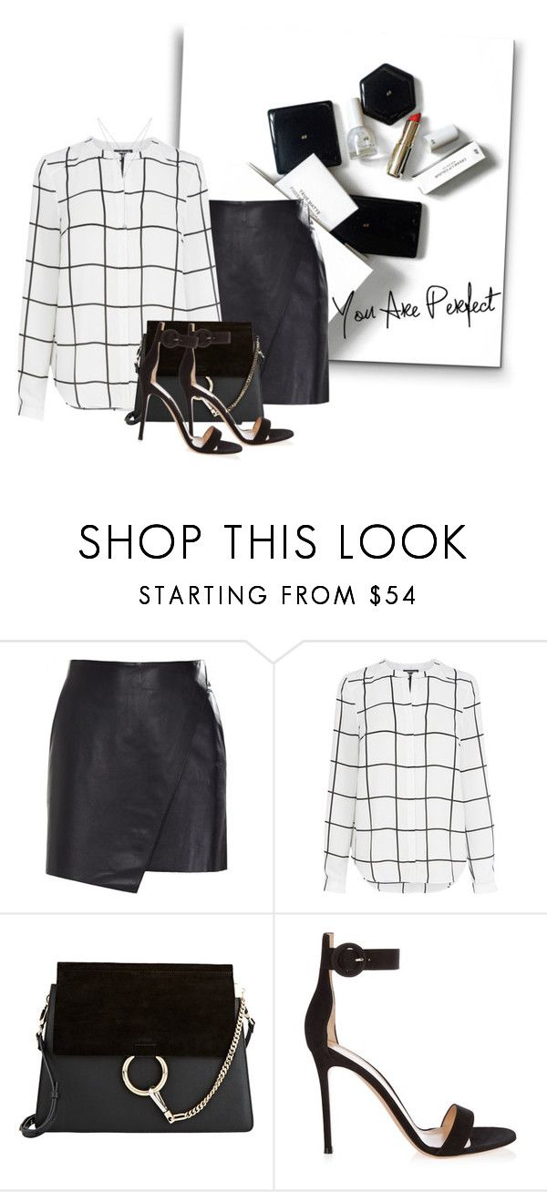 """""""09/05/17"""" by k-condratova ❤ liked on Polyvore featuring H&M, Helmut Lang, Warehouse, Chloé, Gianvito Rossi and Henri Bendel"""