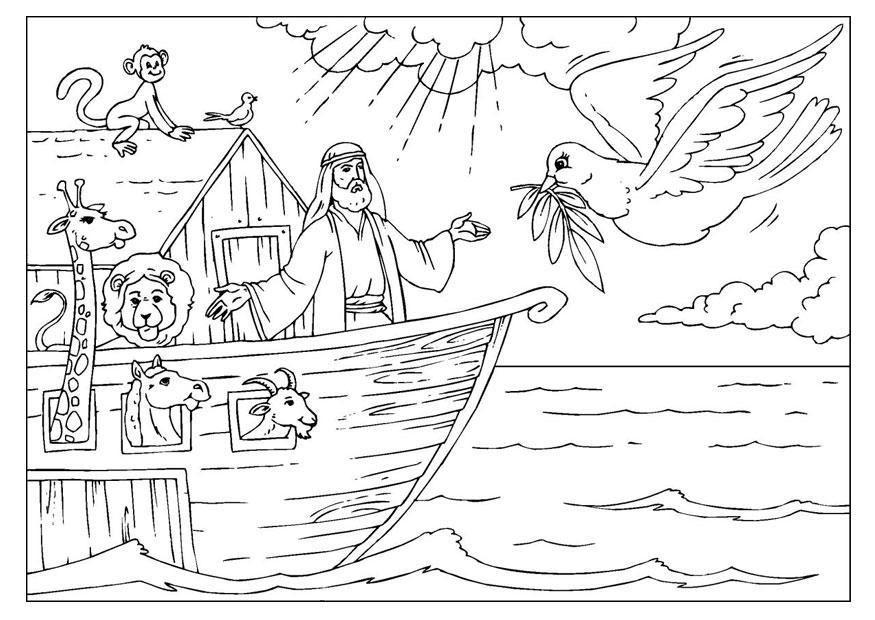 Dibujo Para Colorear El Arca De Noe Paginas Para Colorear De Biblia Dibujos De La Creacion Libros Para Pintar