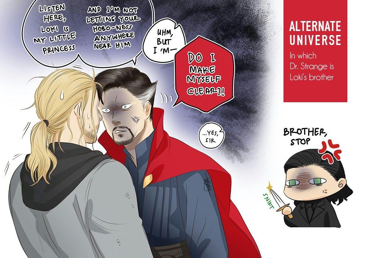 Thor Loki & Dr  Strange AU by the kucing | Loki (and the