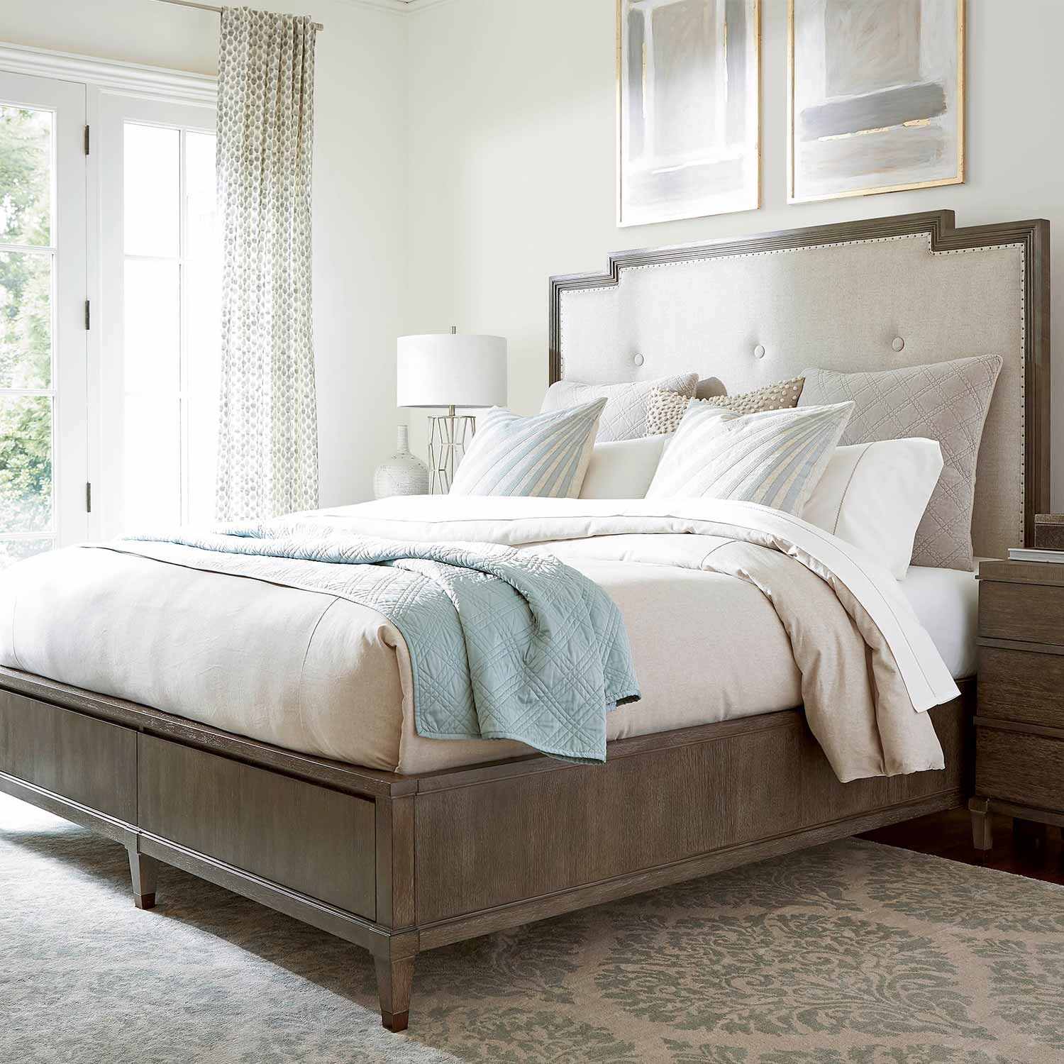 Playlist Harmony Wood & Upholstered Storage Bed in Brown