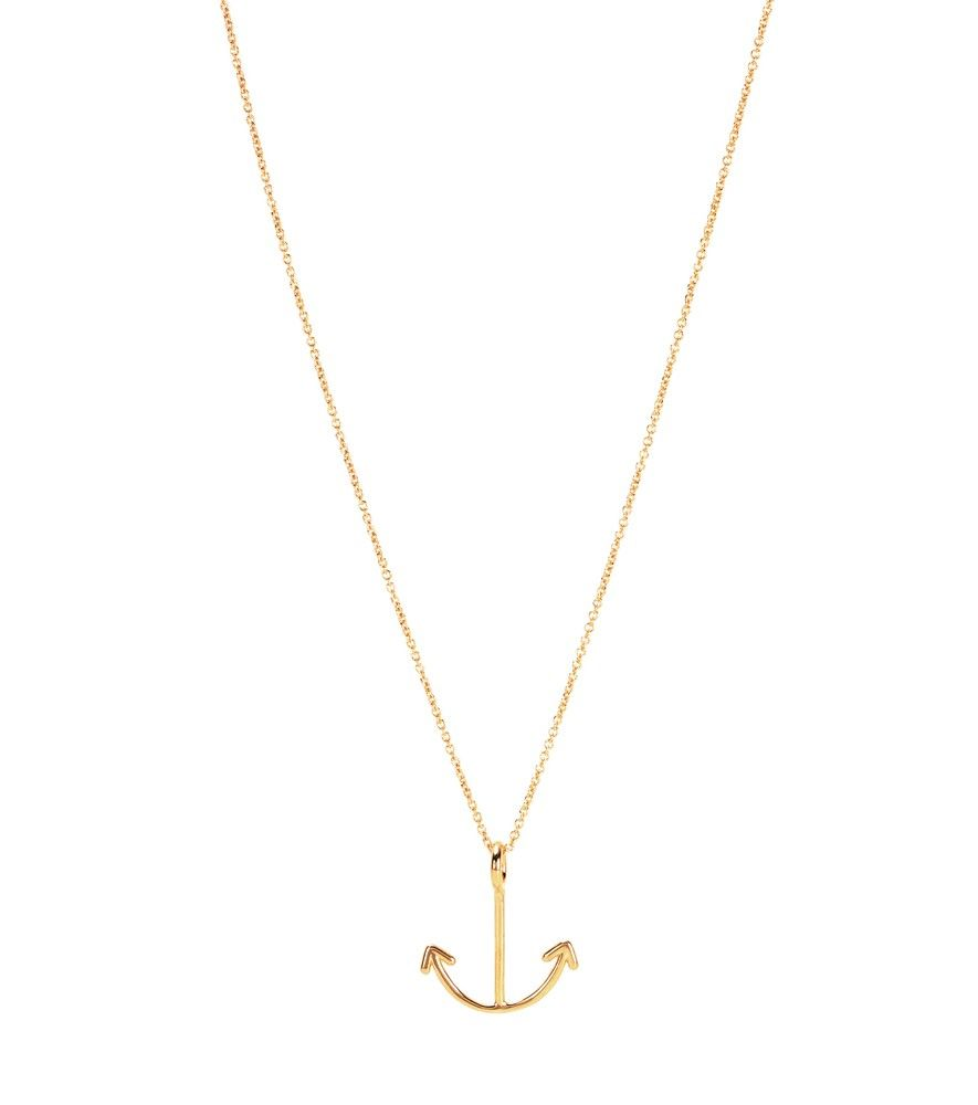 Corazon Rubi 9kt gold and ruby chain necklace Aliita NidIvmgs