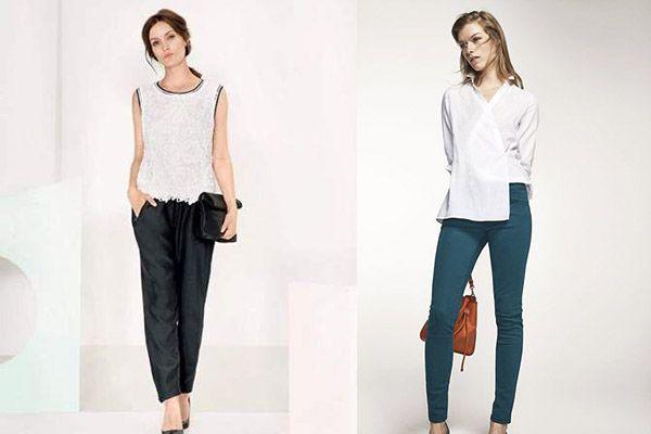 combinar prendas de raso en pantalones