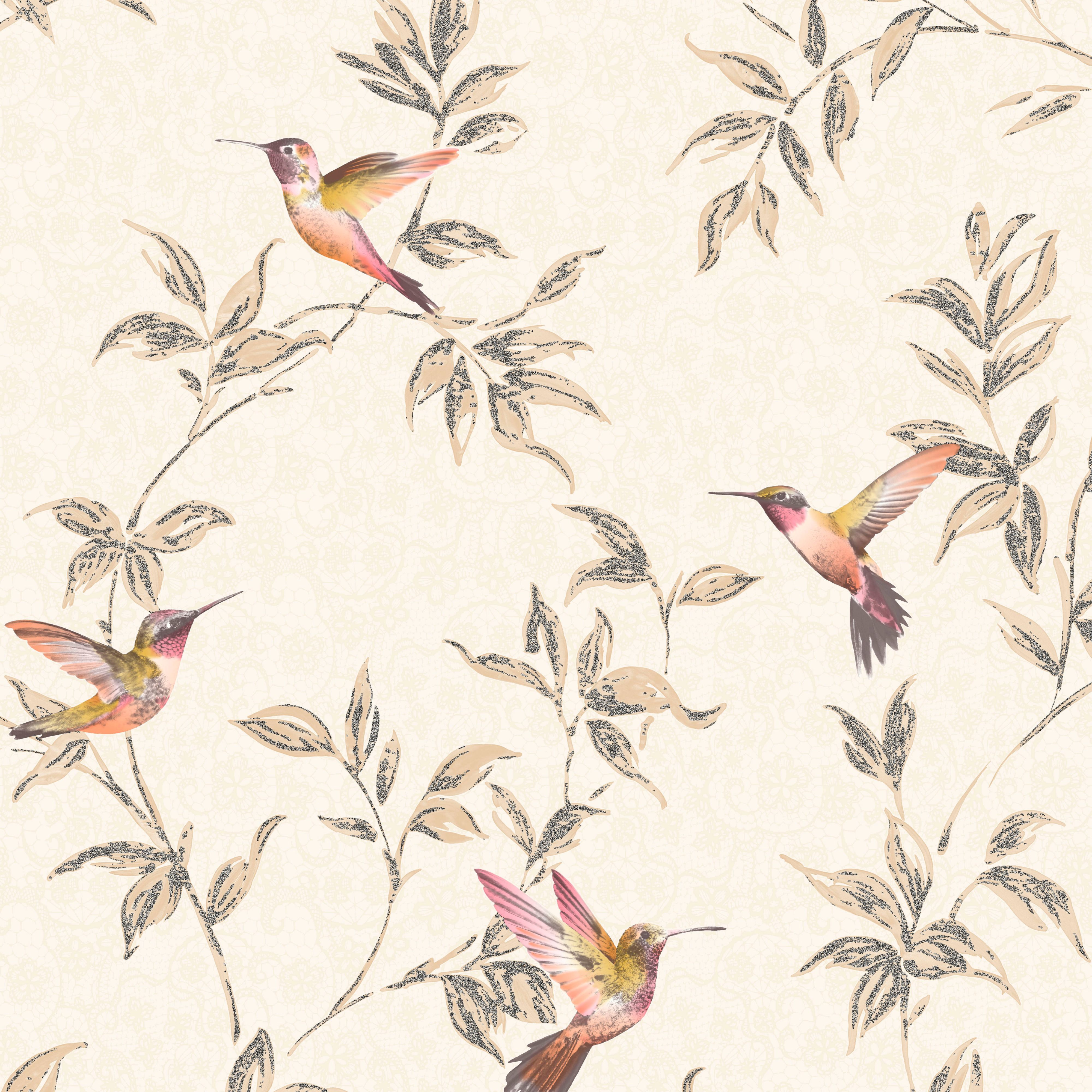 Best Fine Décor Beige Birds Glitter Effect Wallpaper B Q For All Your Home And Garden Supplies And 400 x 300