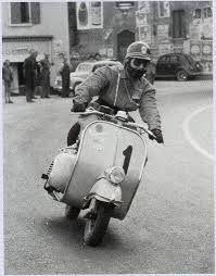 vintage racing vespa ,