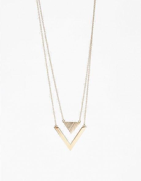 Tiffany 60% OFF! Minimal geometric brass necklace featuring double long chains with triangle and v-shaped pendants. •Minimal geometric long necklace •Double chains and pendants hang together •Large lobster clasp closure #Jewelry #Tiffany #style #Accessories #shopping #styles #outfit #pretty #girl #girls #beauty #beautiful #me #cute #stylish #design #fashion #outfits #diy #design
