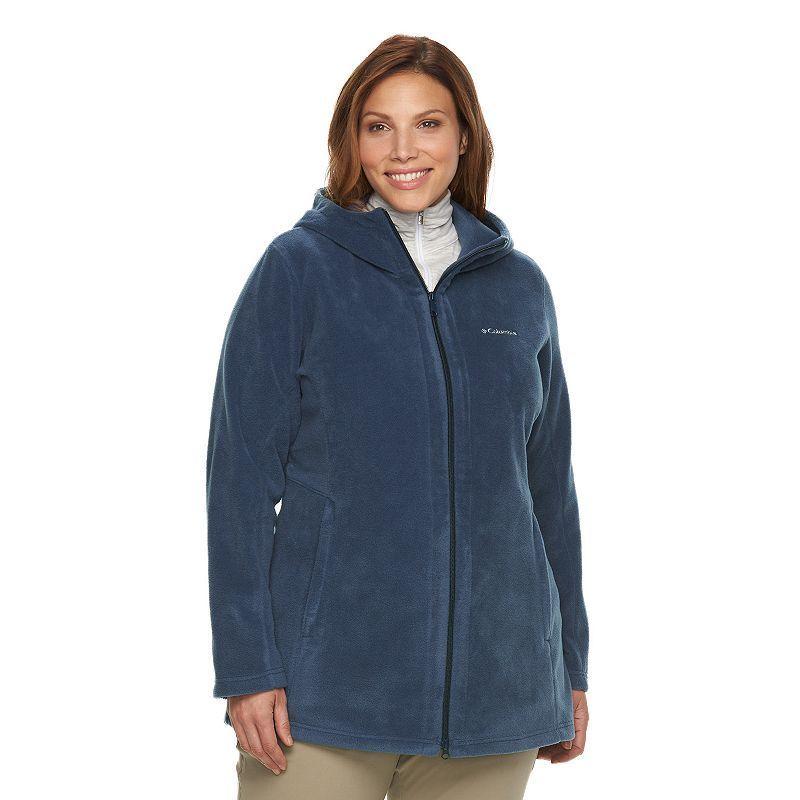 Plus Size Columbia Three Lakes Hooded Long Fleece Jacket ...