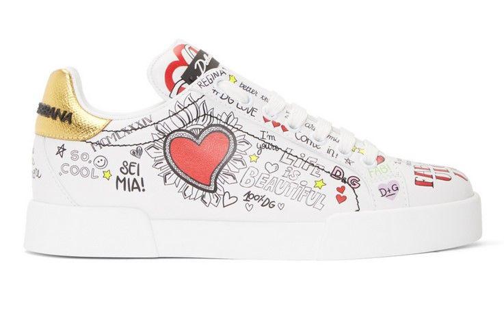 Dolce & Gabbana Baskets blanches All Over Graffiti | SHOE