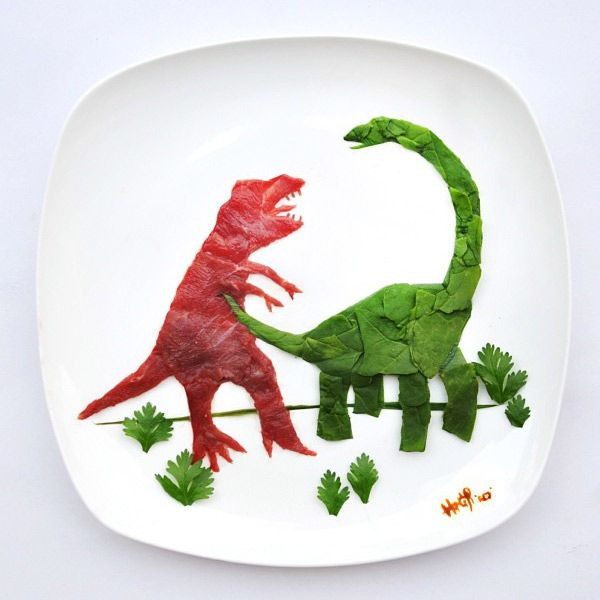 Brilliant Artworks On Foods By Hong Yi