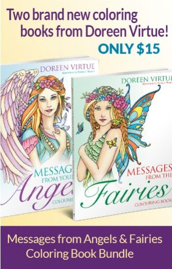 Messages From The Angels Fairies Coloring Book Bundle By