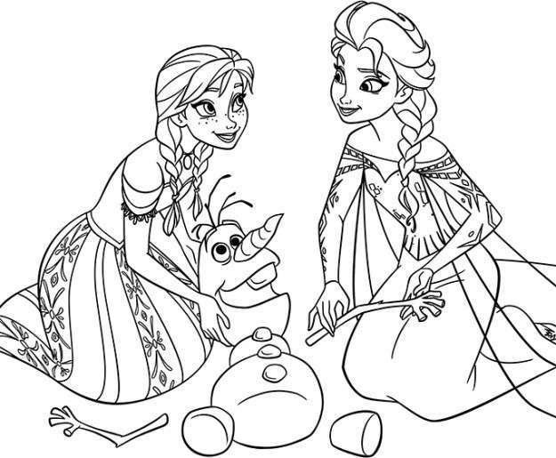 Elsa Anna Y Olaf Frozen Para Colorear Dibujos De Frozen Frozen Para Pintar