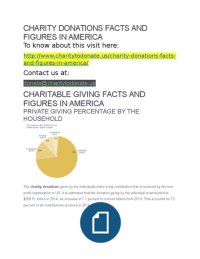 Charity Donations Facts and Figures in America