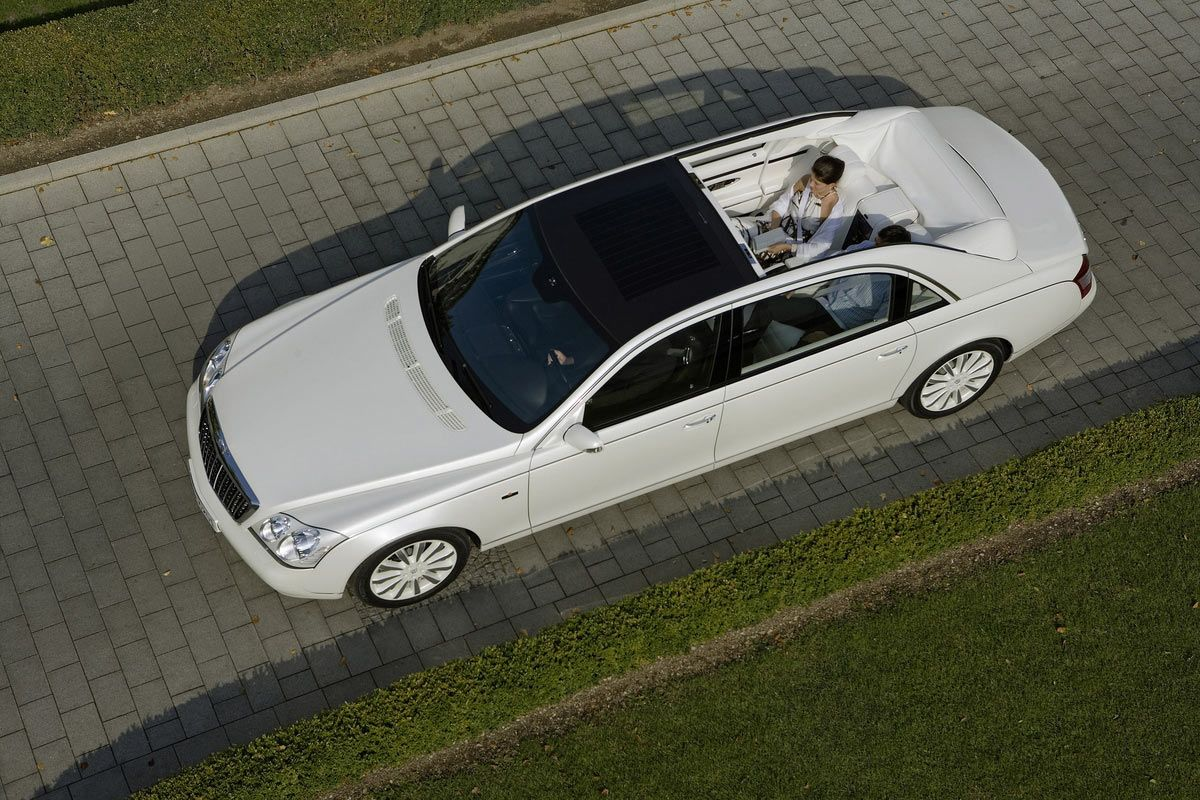 Maybach Landaulet Most Expensive Sedan On The Market Check Out The Roof!