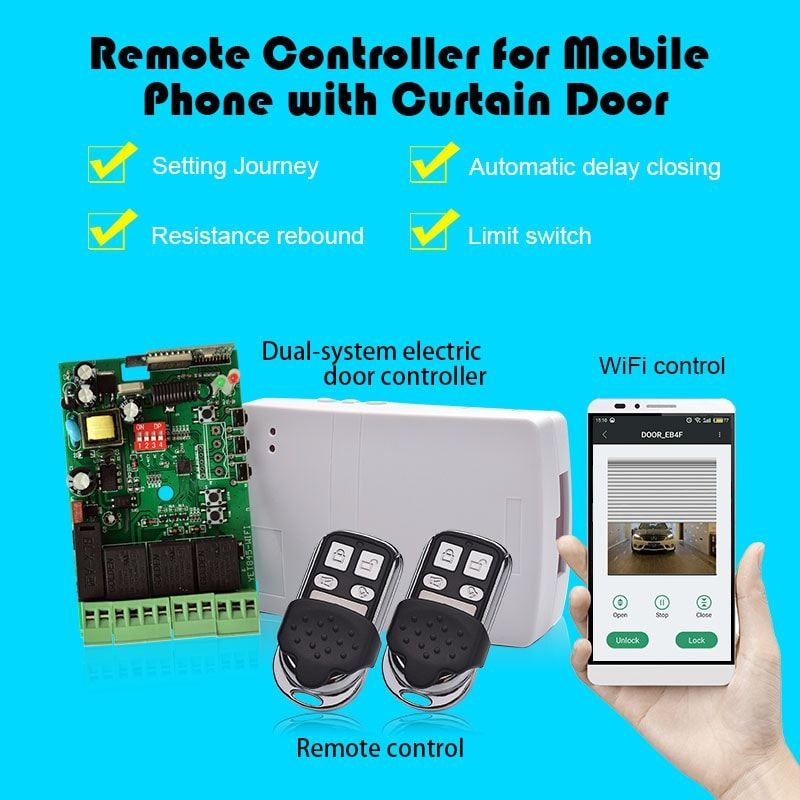 Rfwireless Remote Control And Receiver Set Yet845 Wifi For Garage Door Wifi Remote Control Control