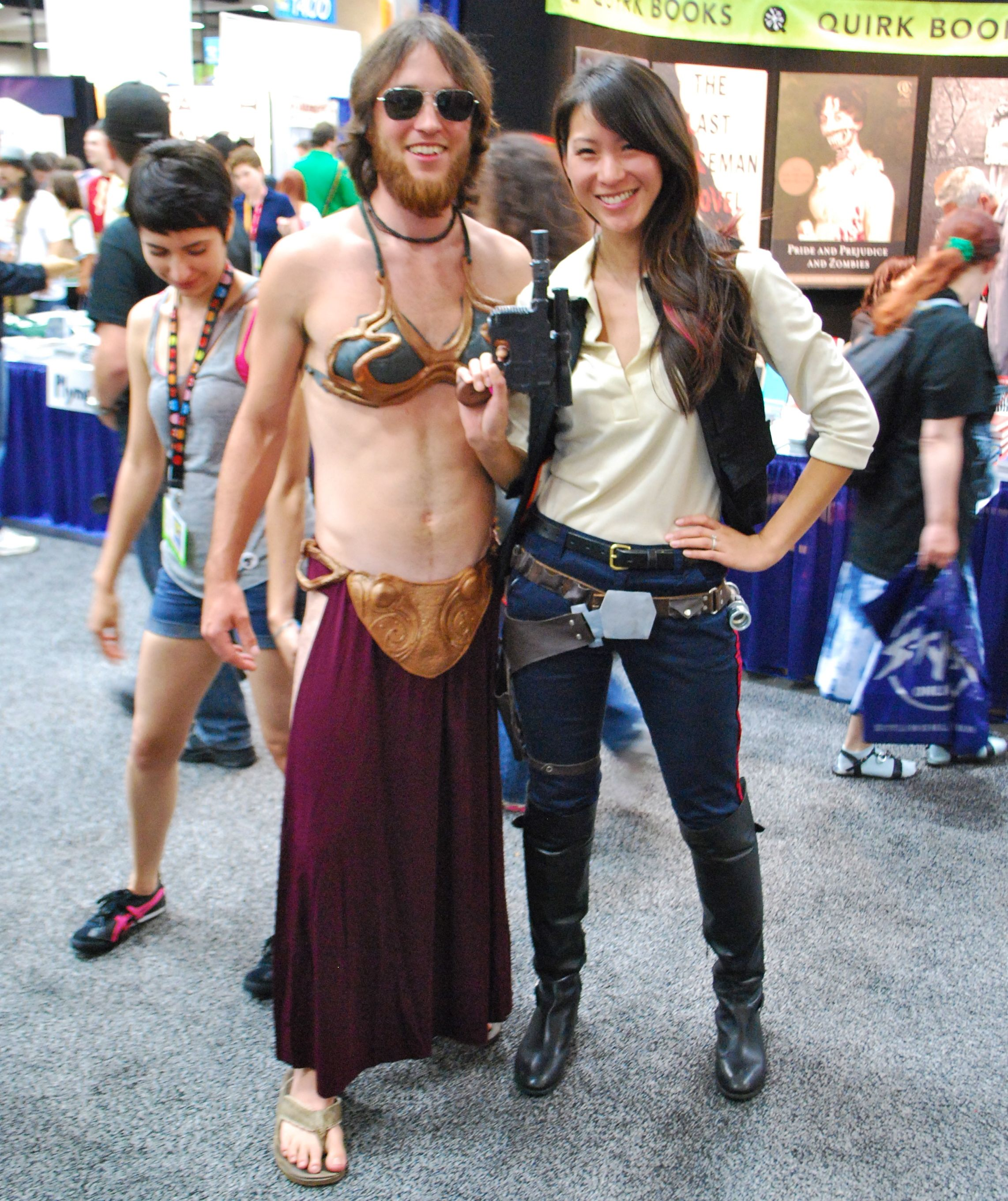 54aa432e5d0 Best couple ever! Crossdressing Slave Lei and Female Han Solo! www ...