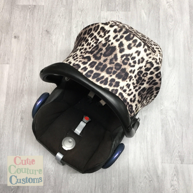 Leopard Car Seat Cover Maxi Cosi Carseat Hood
