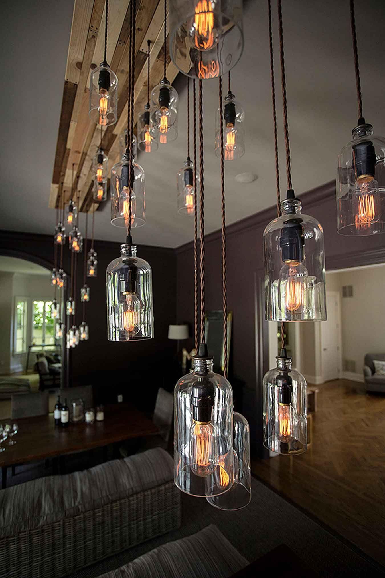 Modern Rustic Chandelier Custom Lighting At Moonshine Lamp Co