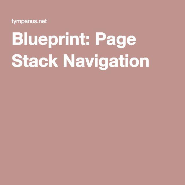 Blueprint page stack navigation css pinterest blueprint page stack navigation malvernweather Images
