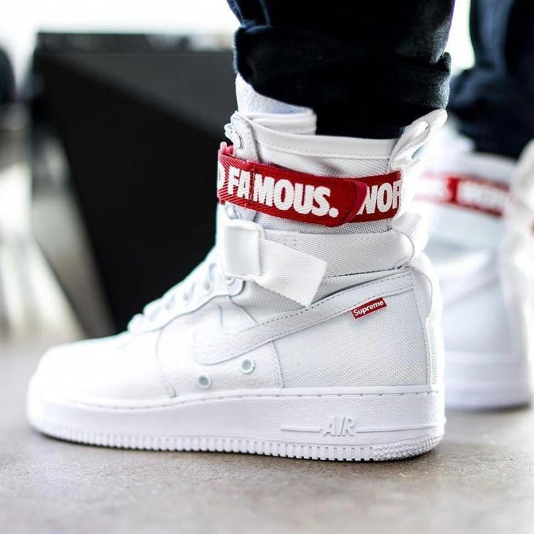 Nike Special Field Air Force 1 with @supremenewyork details