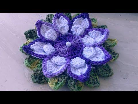 Vamos agora fazer flores em crochê para aplicação com Cristina ...