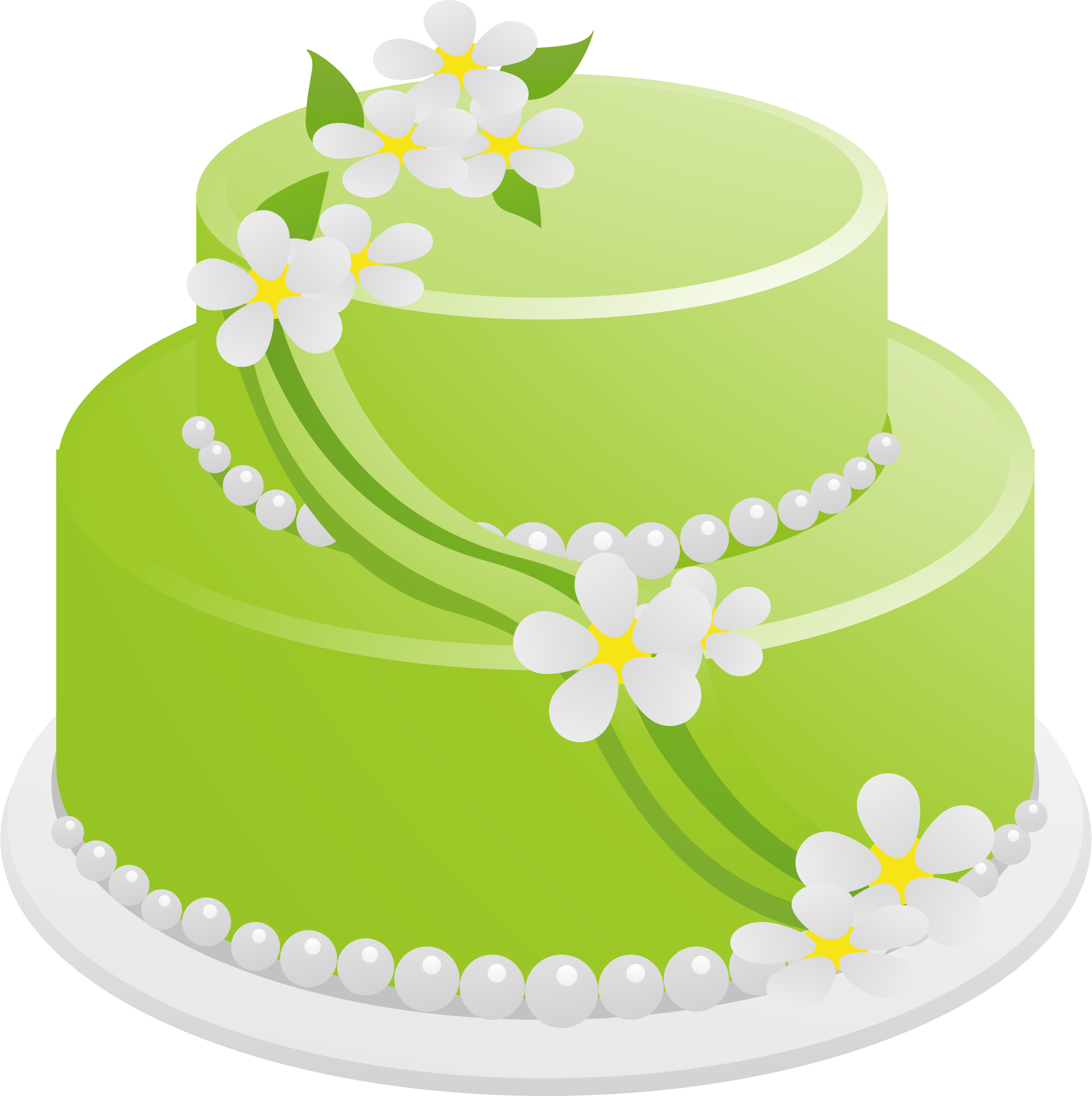 Birthday cake green. By vectorsme cc cakes