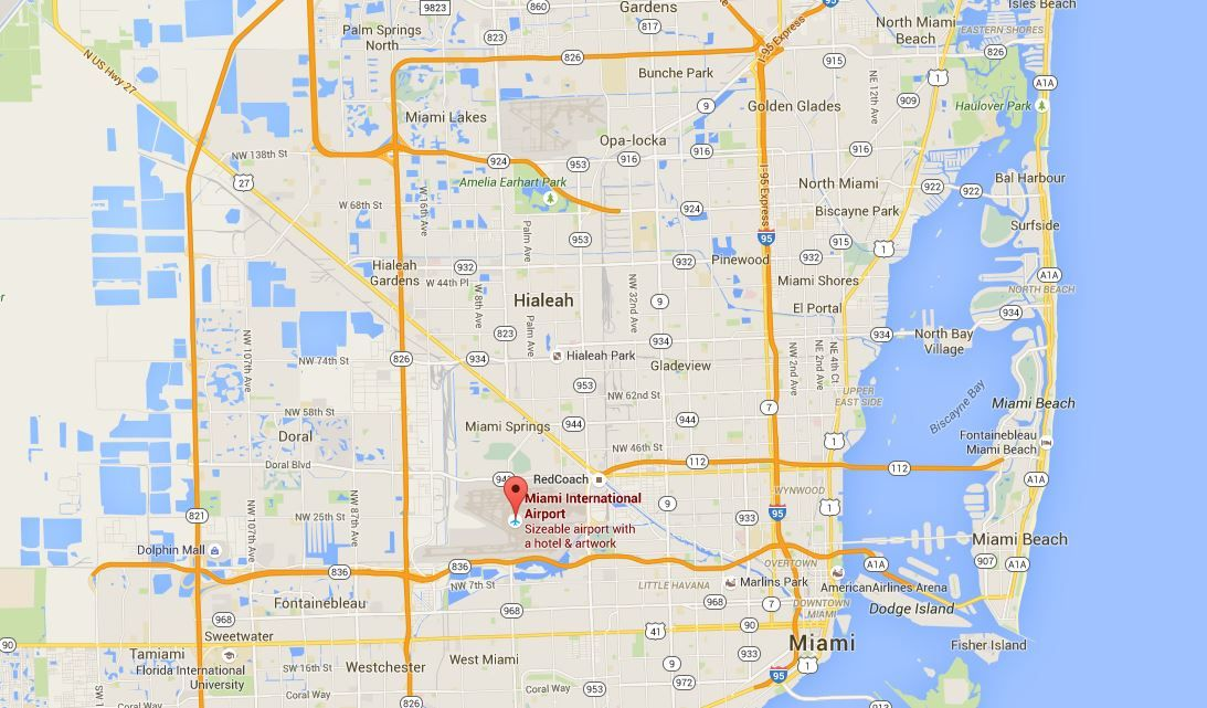Florida Airport Map.Miami Florida Airport Baggage Auctions Miami International Airport