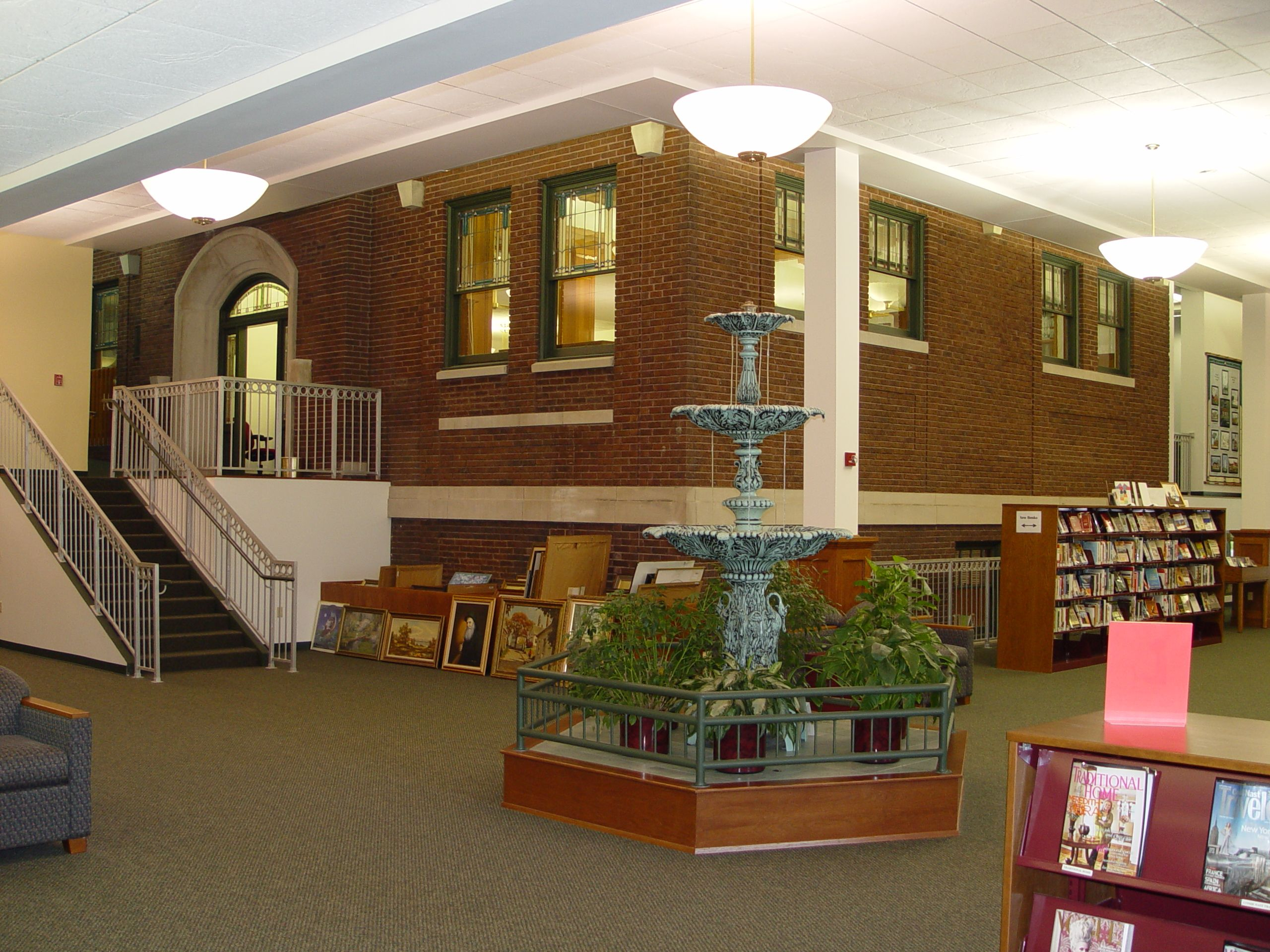 Carnegie Public Library Angola Indiana Renovations Table Decorations Home Decor