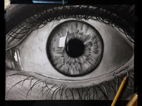 tutorial how to draw shade a realistic eye with teardrop step