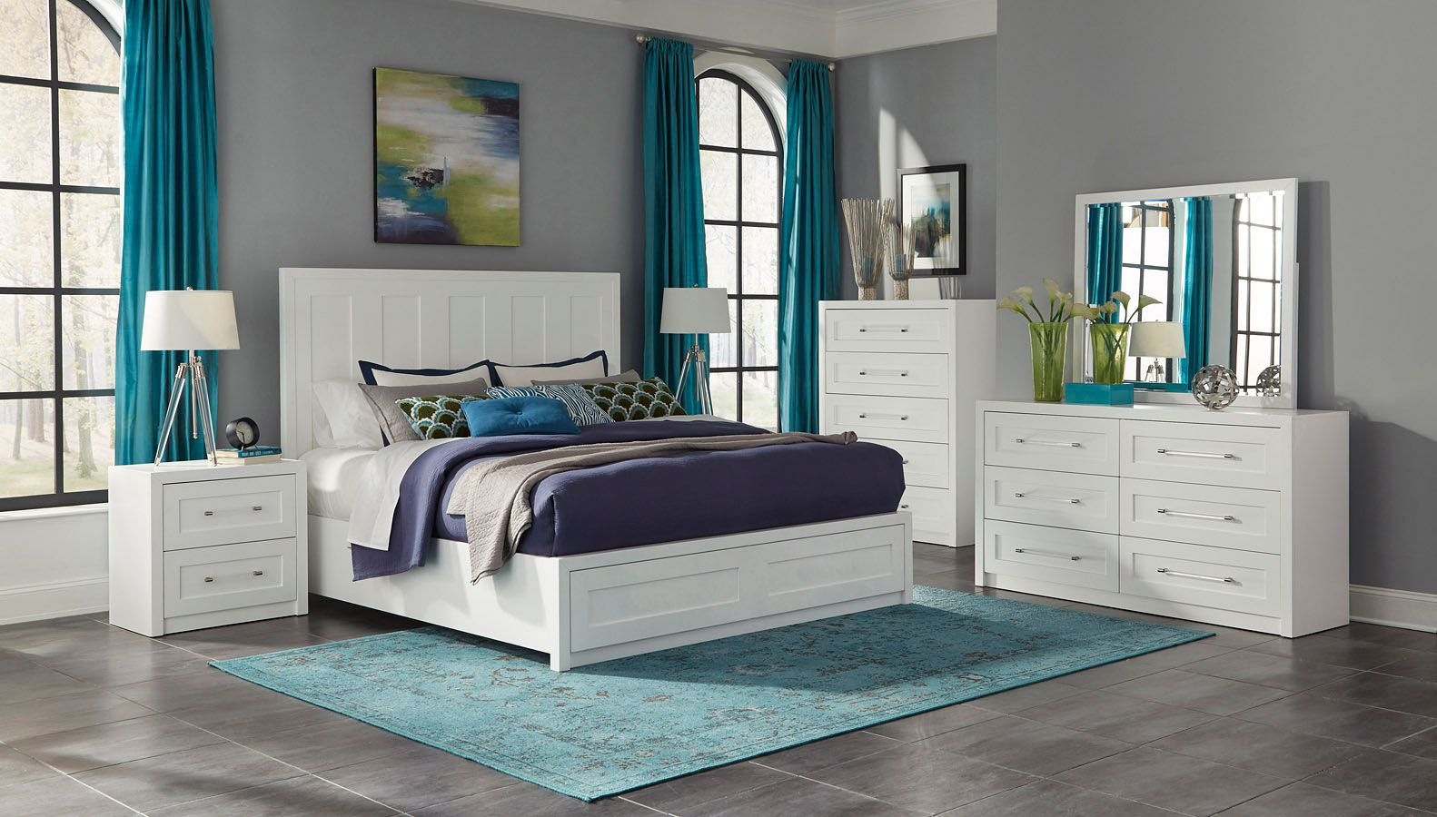 Studio White Panel Bedroom Set In 2020 White Paneling Canopy Bedroom Sets Vintage Bedroom Decor