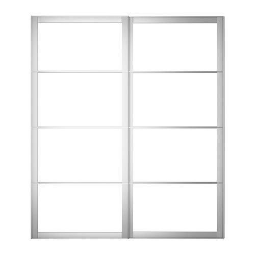 PAX Cadre Porte Coulissante 2pces Aluminium 200x236 Cm   IKEA