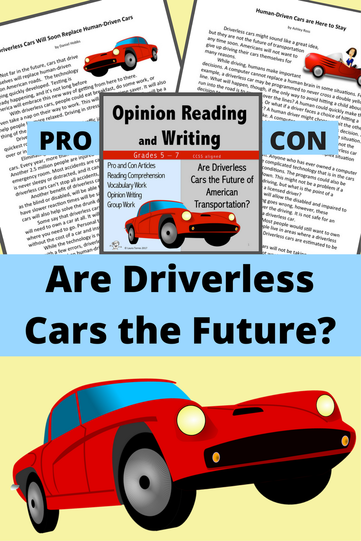 Opinion Writing And Opinion Reading Driverless Cars Opinion Writing Teaching Middle School Middle School Ela Classroom [ 1102 x 735 Pixel ]