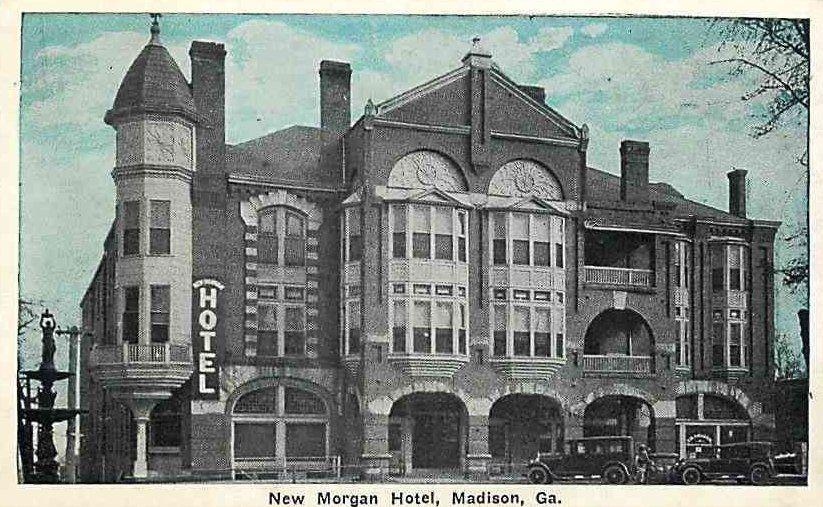 Madison Georgia Ga New Morgan Hotel Vintage Postcard