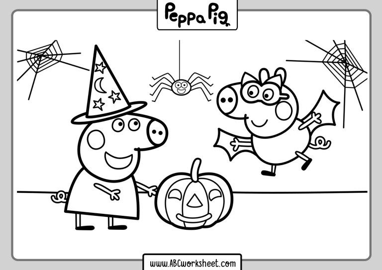 Printable Peppa Pig Coloring Pages For Kids Peppa Pig Coloring Pages Free Halloween Coloring Pages Peppa Pig Colouring