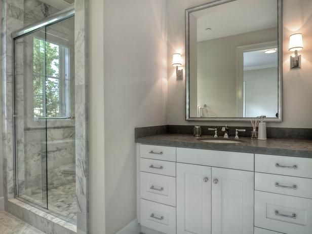 Port Bristol Spacious Bathroom With Shower Glass Shower Traditional Bathroom Vanity Traditional Bathroom