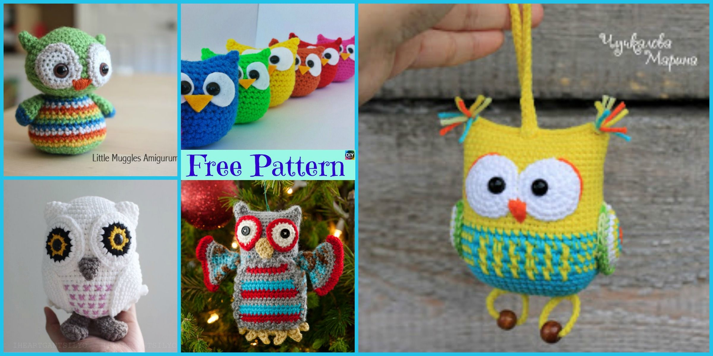 Owl Collection crochet pattern | PlanetJune by June Gilbank: Blog | 1200x2400