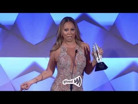 We heart Mariah Carey! the Ally Award at the #glaadawards - YouTube #LGBTQ