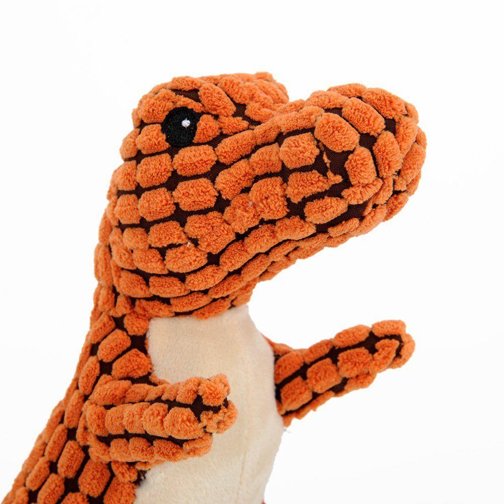 HooPet The Original Safari Plush Natural Dog Toys Dinosaur