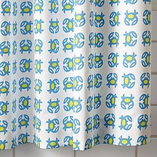Crab Shower Curtain Lime Serena Lily Kids Bath Designer