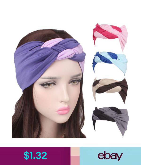 Women Wide Sports Yoga Headband Stretch Hairband Elastic Hair Band Boho Turban
