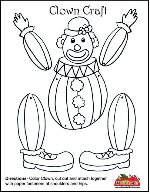 Printable Preschool Circus Crafts Kids Craft Circus Clown Printable Kid Paper Crafts Templates Circus Clown Face Printable Circus Tent Craft for ...  sc 1 st  Pinterest & Clown Craft - Would be super cute with a picture of the kidsu0027 head ...