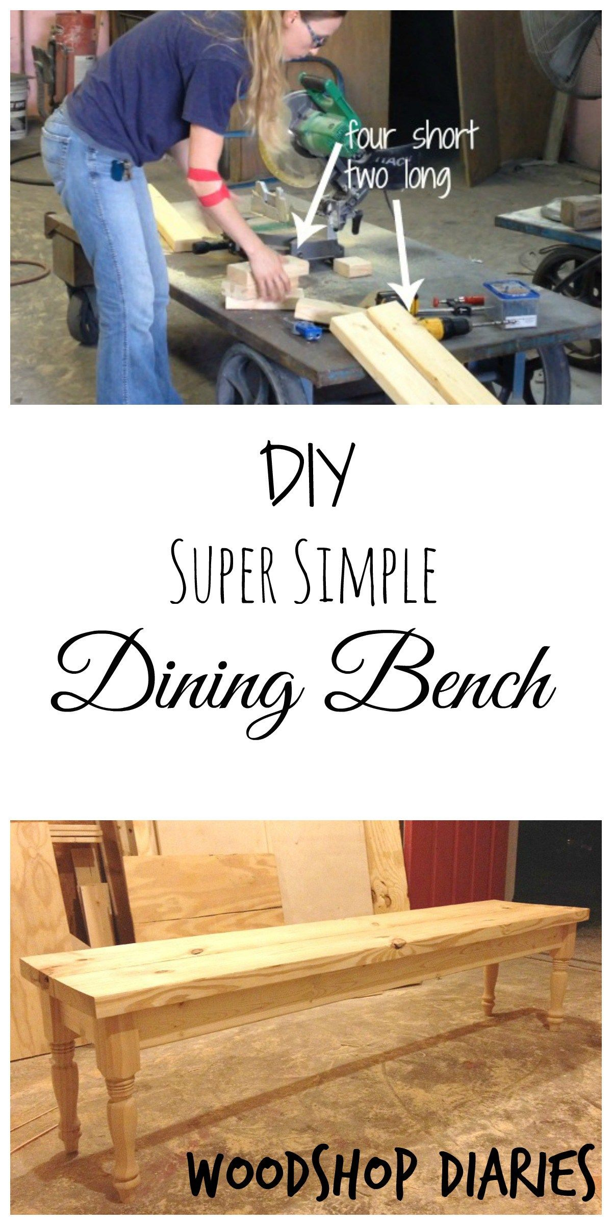 how to build a super simple diy dining bench with just a few boards and a