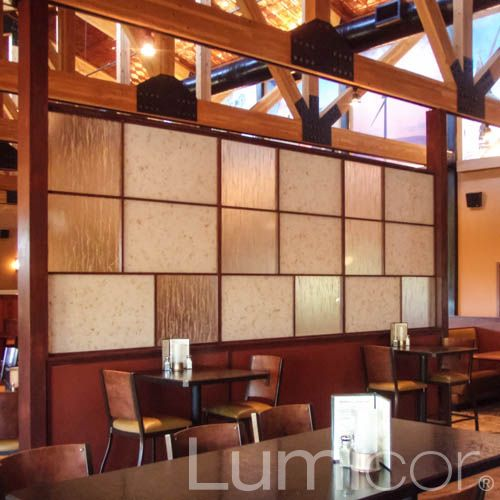 Partitions in restaurants bars and coffee shops
