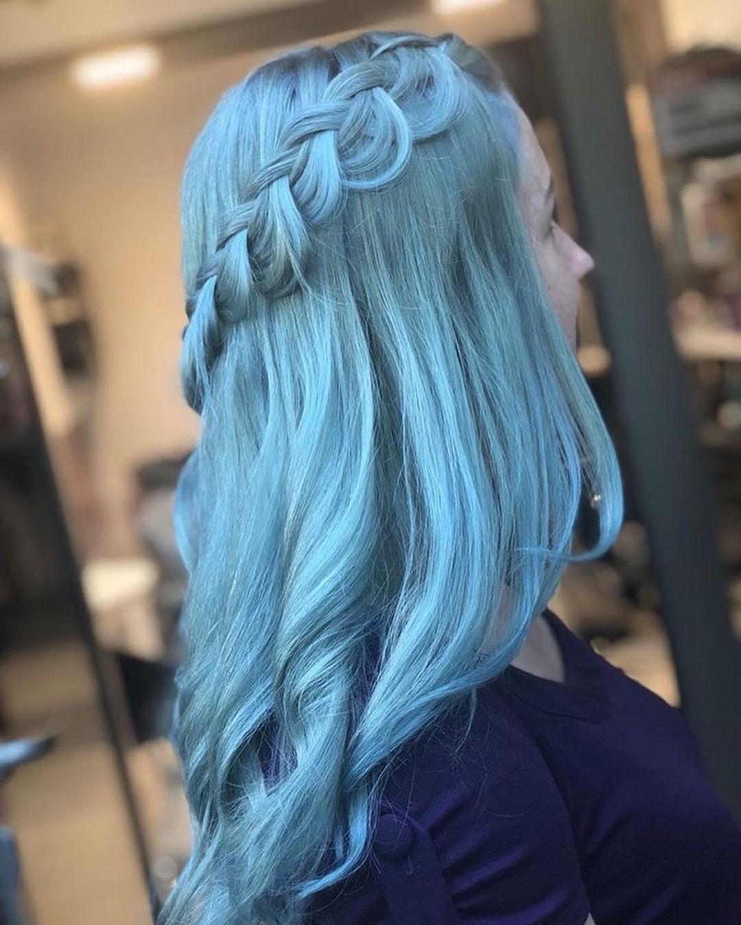 Gorgeous Powder Blue Braids From Olya Devyatka Use Our Moonstone