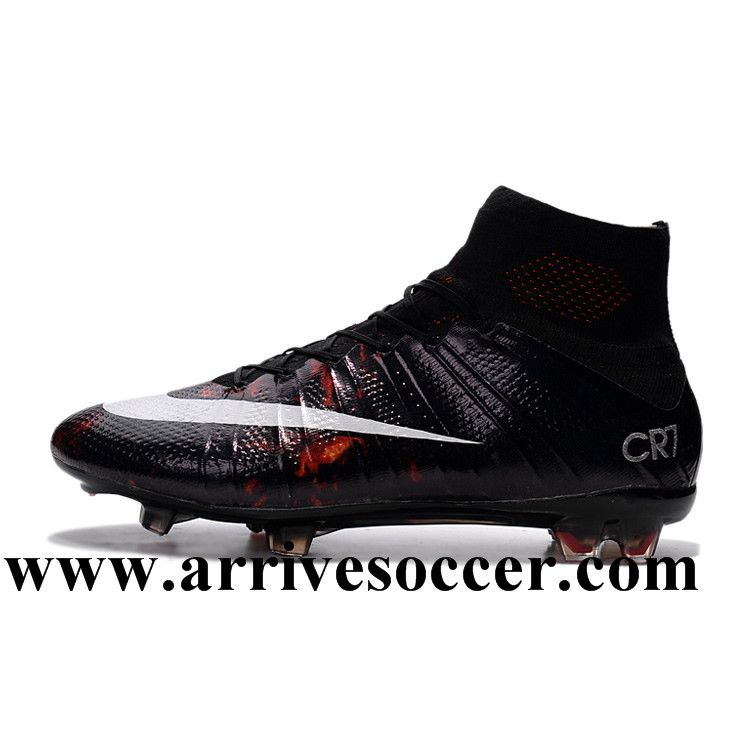 04091612305 Cristiano Ronaldo Nike Mercurial Superfly CR7 FG Top Football Shoes Black  White Red