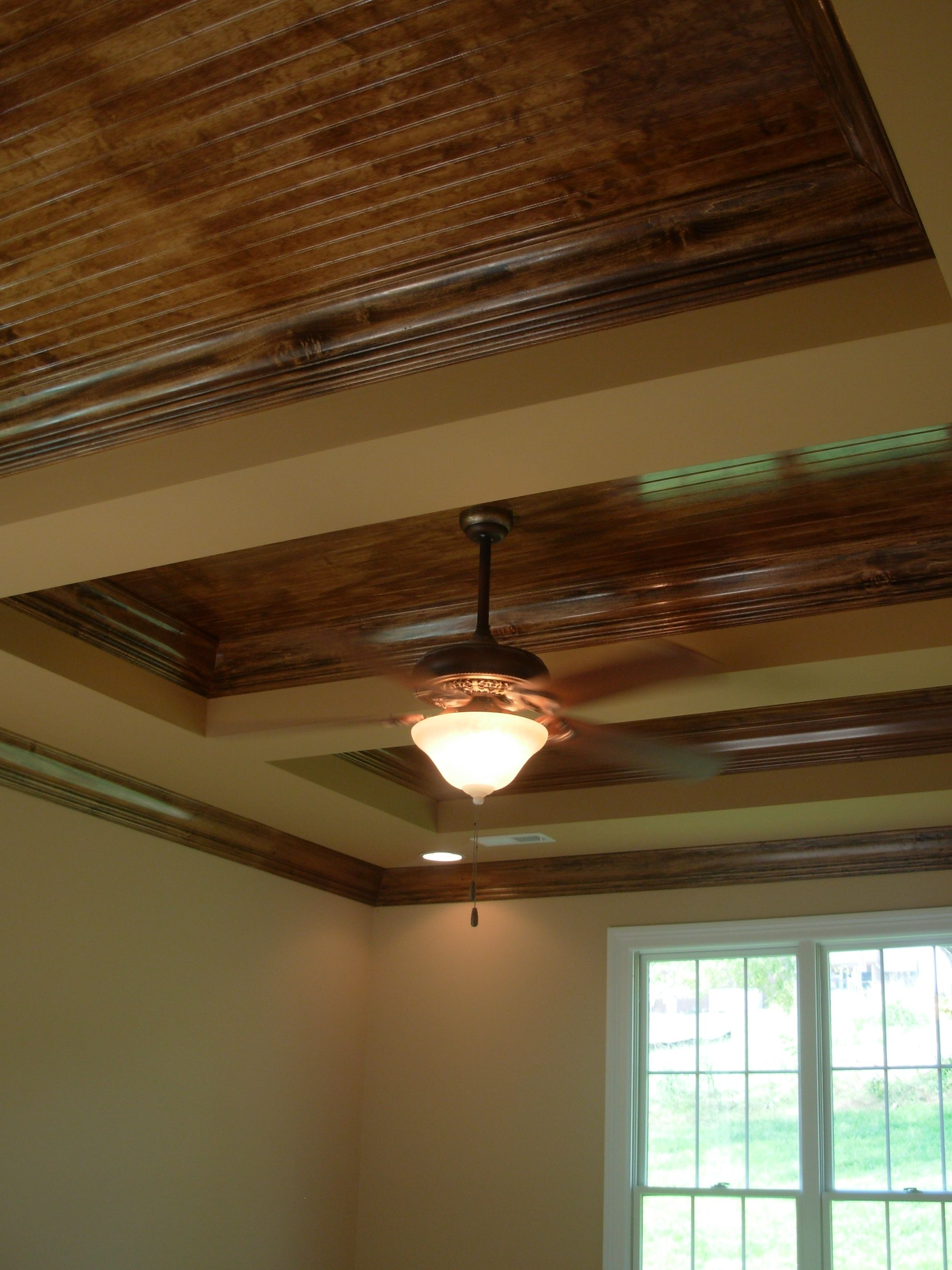 Stained Wood Ceilings By Jenny Blalock, Luxe Homes U0026 Design, Beadboard  Ceilings, Covered