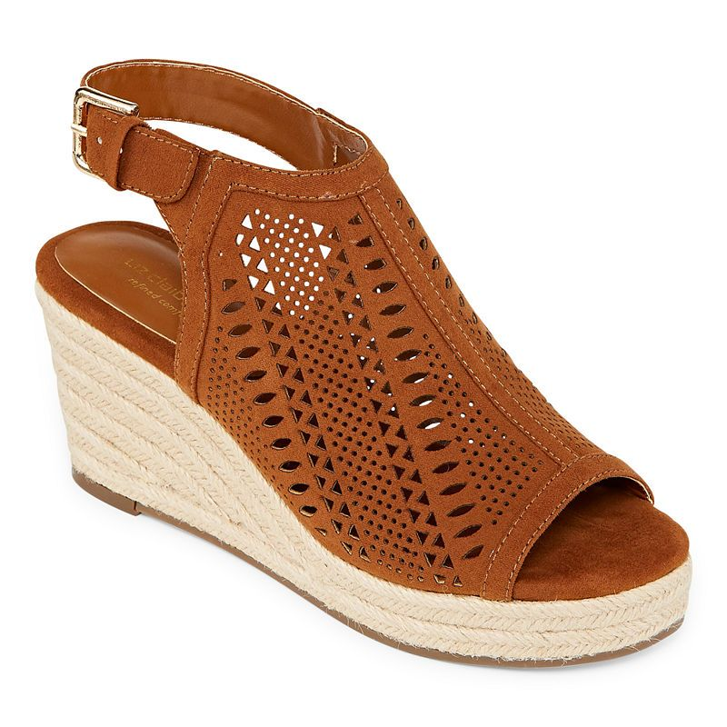 c5abba6d4fad Liz Claiborne Womens Hardie Wedge Sandals in 2019